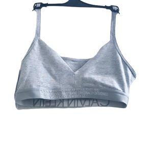 Calvin Klein reversible bralette in grey medium